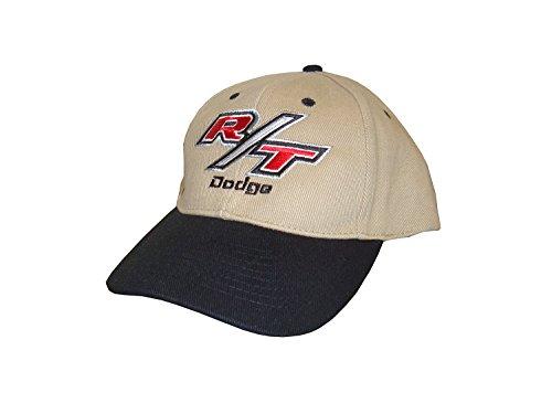 Hot Shirts Men's Dodge R/T Hat: Black & Khaki - Dodge Mopar SRT Scat Pack Hellcat Ram Charger Challenger Dart Coronet 392 426 ()