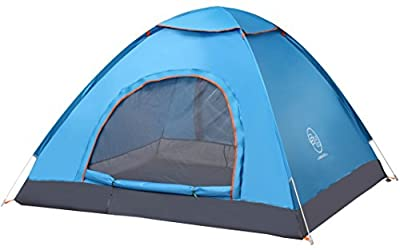 Pop Up Tent by Survival Hax - Automatic & Instant Setup - Lightweight 2 to 4 Person Tent includes Portable Pack for Hiking and Camping