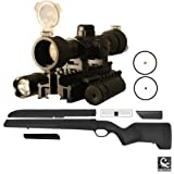 ATI Mauser 98 RifleFixed Stock Bent Bolt, Large-Ring, German K-98's, Czech VZ-24, Yugo 48/48a, Turkish 1903/1937/1938/1946 + Ultimate Arms Gear Dual Red & Green Dot Scope + Flashlight + Laser + Mount
