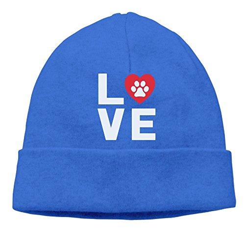 ZWD010JK Men TeeStars - Animal Lover Dog Paw Print - Love Dogs My Best Friend Warm Sports Style Warm Knit Beanie Skull Cap Cuff Beanie Hat Beanie Hat Royalblue