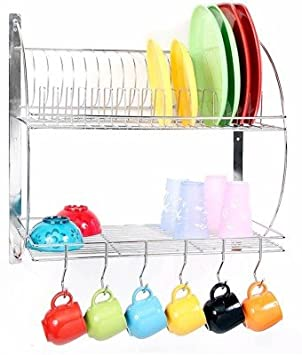 ROYAL SHAPPIRE Stainless Steel Kitchen Rack Silver  Utensil Holders   Organizers