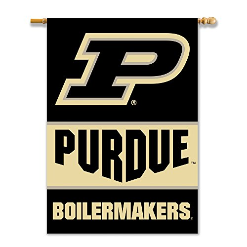 NCAA Purdue Boilermakers 2-Sided 28-by-40 Inch House Banner with Pole sleeve,,Gold (Banner 2 Ncaa Side)