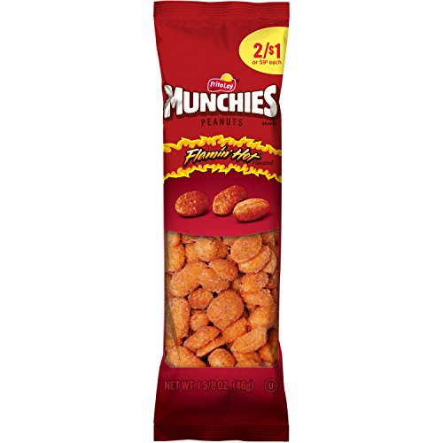 (Munchies Flamin' Hot Flavored Peanuts, 36 Count, 1.625 oz Bags)
