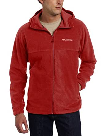 Columbia Men's Steens Mountain Hoodie Fleece Jacket, Red Element, Small