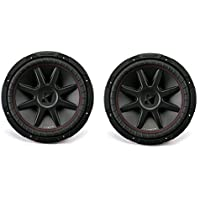 Kicker CompVR 12 2 Ohm 1600 Watt Peak DVC Car Audio Subwoofer (Pair) | 43CVR122