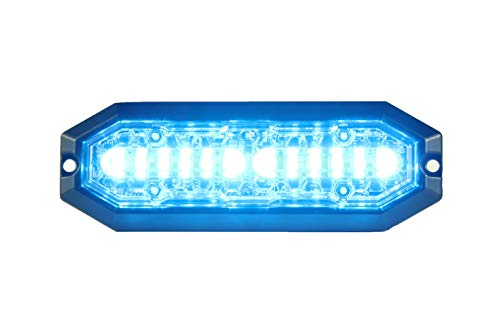 Unicorn Lighting UT01 Surface Mount Warning Emergency Strobe Grille Light Head [SAE class 1] [Dual Color] for Police and truck vehicle Blue ()