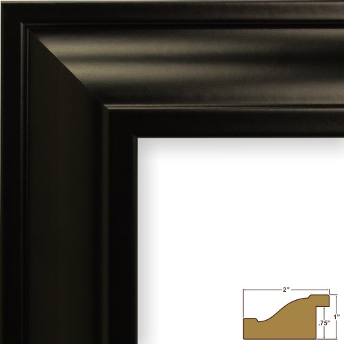 Craig Frames 21834700BK 20x24 Picture/Poster Frame, Smooth Finish, 2-Inch Wide, Black