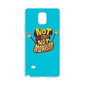 Funny Quotes Not My Circus Not My Monkeys pattern for white plastic SamSung Galaxy Note4 case