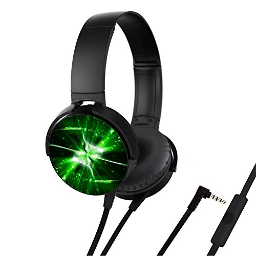 Portable Headsets  Bass Stereo Wired Over Ear Headphones Build In Mic For Smartphones Iphone Pc Laptop  Customized Design With Soft Earmuff  Noise Cancellation   Green Flame On Deviantart
