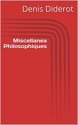 Miscellanea Philosophiques (French Edition)