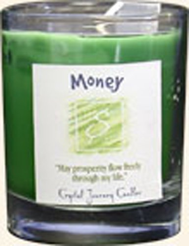 Crystal Journey Herbal Magic Glass Filled Votive Candle - (Green Candle)