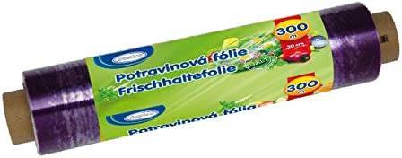 1-PACK Frischhaltefolie Haushaltsfolie aus PVC, 30 cm x 300 m, einzeln verpackt