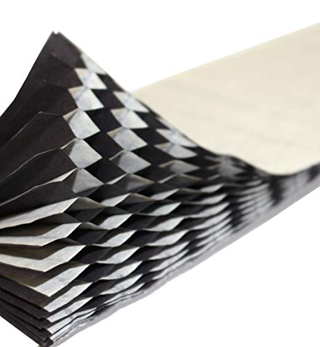 (3-Pack Honeycomb Paper Craft Pads, Mini Quarter Inch Glue Line, Two-Tone Black and Ivory (Pad Size 7 X 9.5 Inches))