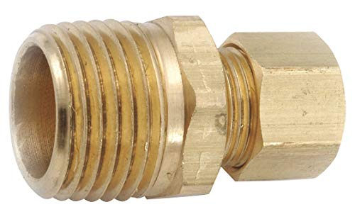 Low Lead Brass Compression x MNPT Male Connector, 3/8