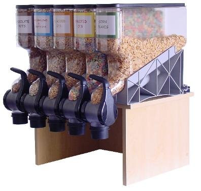 The Best Bins, 4-Gallon Gravity Bin Dispenser, 16'' x 18'', 8 oz. Portion Control