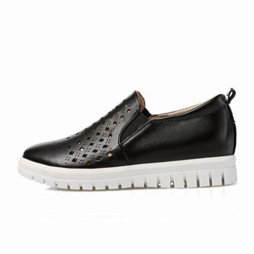 Charme Voet Dames Comfort Lage Hak Loafers Schoenen Zwart