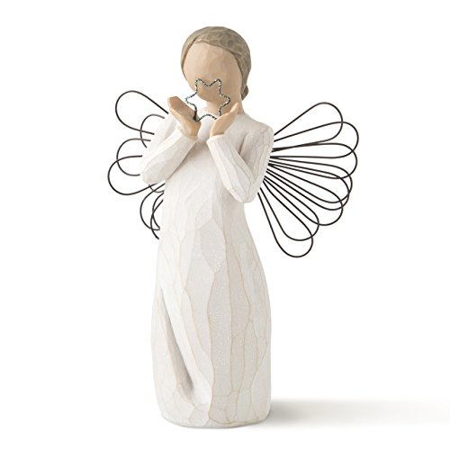 Willow Tree hand-painted sculpted angel, Bright (Christmas Nativity Figure)