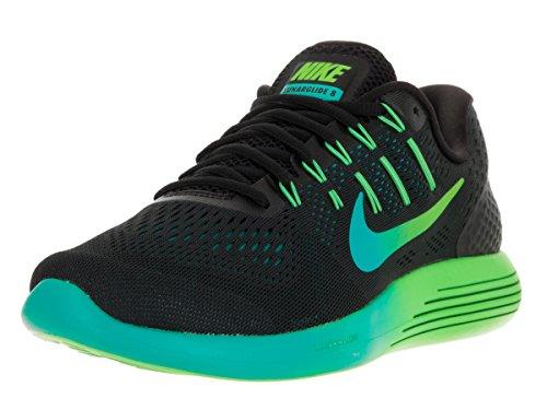 NIKE Men's Lunarglide 8 Black/Multi Color R TL Clr JD Running Shoe 10.5 Men - R Running