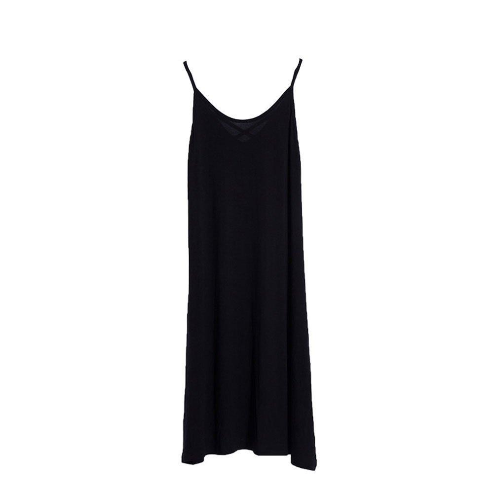 Women Sleepwear Plus Size Sleeveless Pajama Loose Dress Sexy Nightgown Lounger