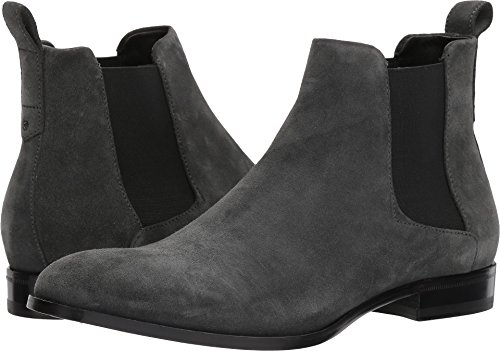 Hugo Boss Men's Cult Dark Grey Suede Leather Chelsea Boots Shoes Sz: - Hugo Boots
