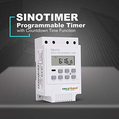 Peanutaor TM616W-2 30A 220V /Électronique Hebdomadaire Programmable Num/érique Time Switch Relais Minuterie Contr/ôle Minuterie Montage sur Rail Din