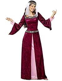 Women's Maid Marion Costume, Dress and Headpiece, Tales of Old England,