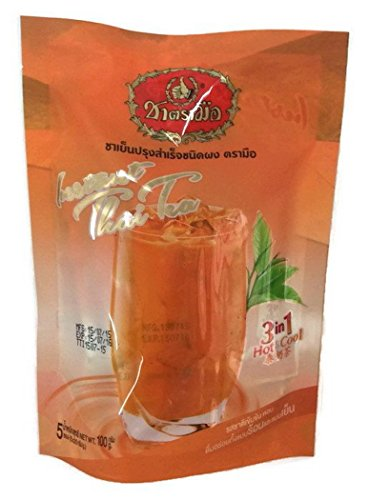 Number One Brand Instant Thai Tea 3 in 1 Tea Drinks Both Hot and Cold 2 Bags X 5 (Instant Milk Tea)