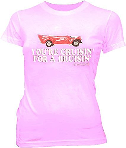 (Grease You're Cruisin' For A Bruisin Kenickie Light Pink Juniors T-shirt Tee)