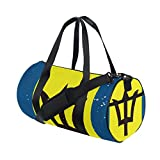 Distressed Barbados Flag Travel Duffel Shoulder Bag ,Sports Gym Fitness Bags