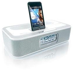 Memorex Mi4004 iWake Clock Radio for iPod (White)