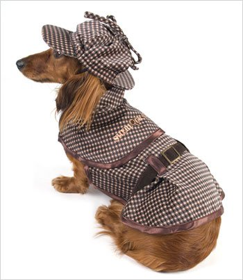 Costumes Holmes (Sherlock Hound - Sherlock Holmes Costume for Dogs - Size 3 (10.75