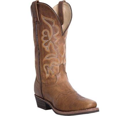 Dan Post Dp68543 Da Uomo Golden Tan Saddle In Pelle Cowboy Western Boots