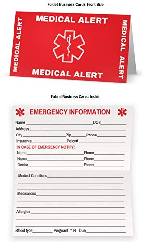 Amazon Com Medical Condition And Emergency Contact Id Wallet Card