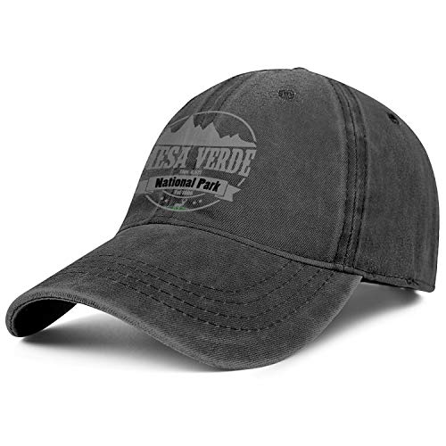 Mesa Verde National Park Elev 8571 Unisex Denim Designer Caps Adjustable Visor Baseball Hats