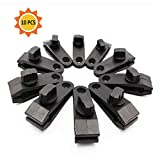 Fortuning's JDS Tarp Clips, Heavy Duty Thumb Screw - Strong Lock Grip Tent Clamps for Tarps, Awnings, Outdoor Camping, Caravan Canopies, Car Covers, Swimming Pool Covers (10 pcs)