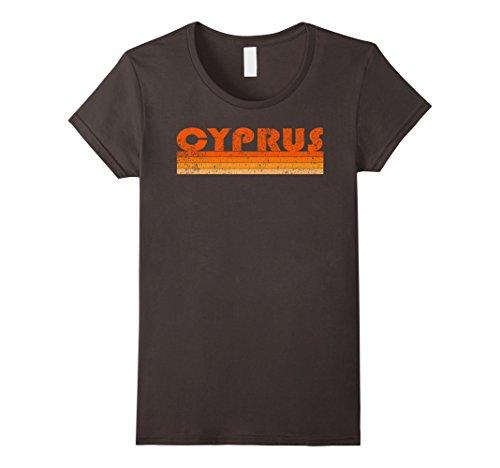 Womens Vintage Retro Cyprus T-Shirt Trendy Shirt Large - Tee Cyprus