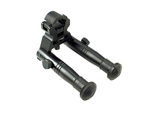 Sniper Tactical High Profile Folding Barrel Clamp; Fixed Height Aluminum Bipod; (Barrel Quad)