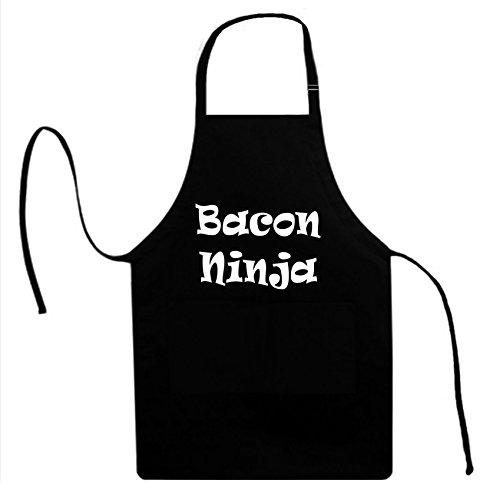 Signature Depot (Bacon Ninja (Foodie Bacon Lover) Unisex Adult Novelty Apron