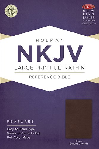 Genuine Cowhide (NKJV Large Print Ultrathin Reference Bible, Brown Genuine Cowhide)