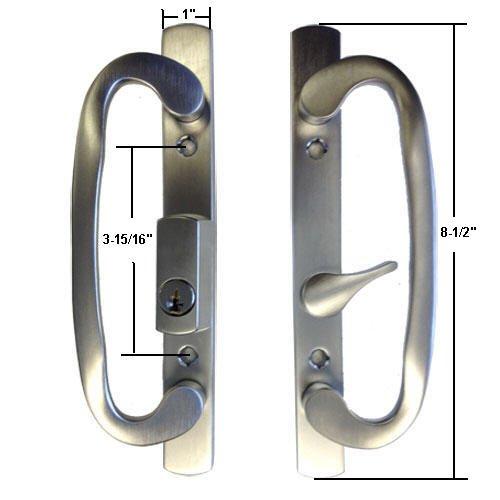Technologylk Sliding Glass Patio Door Handle Set, Mortise...