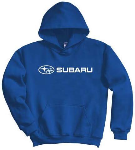SUBARU Genuine Logo Blue Basic Pullover Hoodie Impreza STI WRX Forester Outback Ascent Legacy Crosstrek BRZ 5X