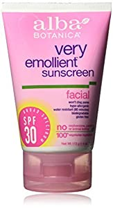 Alba Botanica Very Emollient Facial Sunscreen SPF 30 4 oz (Pack Of 2)