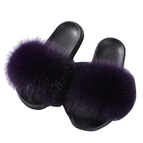 Cordones Zapatillas Mujer para De Fuera De YUCH Sin Purple Ropa Zapatillas Casual Casa XwPppz6q