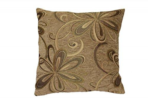 - Violet Linen Chenille Chateau Vintage Floral Design Decorative Throw Pillow, 18