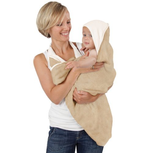 Oatmeal hands free baby towel