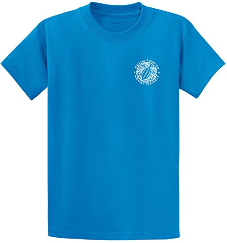 Joe's USA Koloa Surf Hawaiian Honu Turtle Logo Heavyweight Cotton T-Shirt-Saphire/w-6XL by Joe's USA