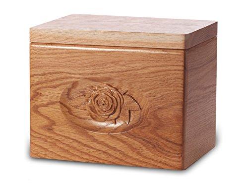 Cremation Urn - Standard Oak Wood - Rose - Oak Urn Cremation Wood