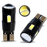 T10C6WL - Blanca de Canbus SMD LED lámpara bombilla de repuesto luces de posición W5W T10