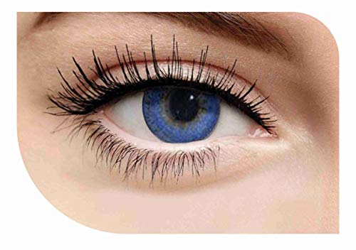 Premium Cosplay Multi Colored Eye Enhancers Charm Attractive Fashion Makeup Eye Shadow - Blue Tri Color