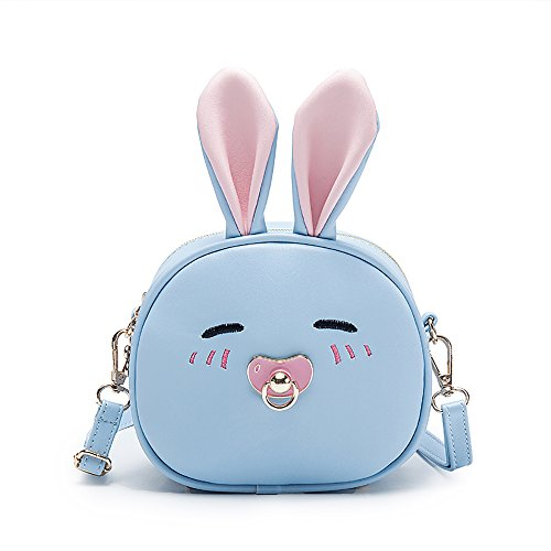 Price comparison product image Pinky Family Super Cute Girls Purse Bunny Ear Shoulder Bag Messenger Bag and Backpack (pattern 2 blue)